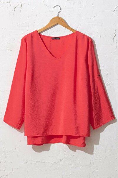 LC Waikiki Kadın Kırmızı Bluz 0WDK79Z8