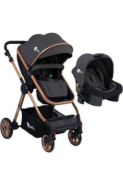 4 Baby Ab-490 Comfort Exclusıve Gold Travel Sistem Gri Bebek Arabası