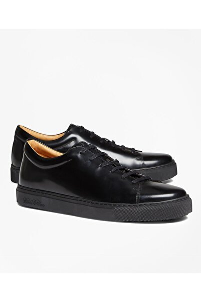 BROOKS BROTHERS Shoe Ml Lea Sneaker Blk
