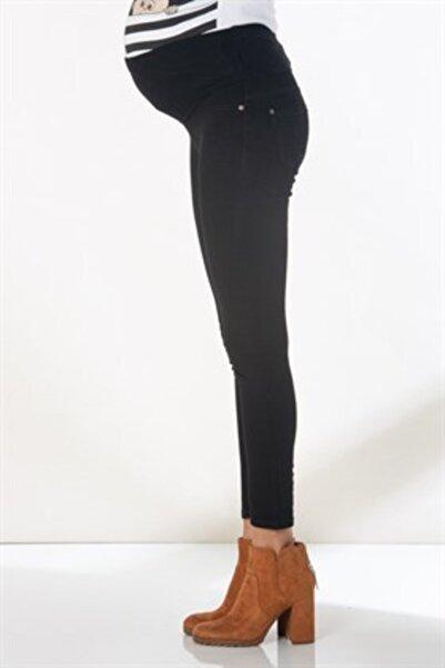 Görsin Hamile Kadın Siyah Hamile Pamuk Pantolon