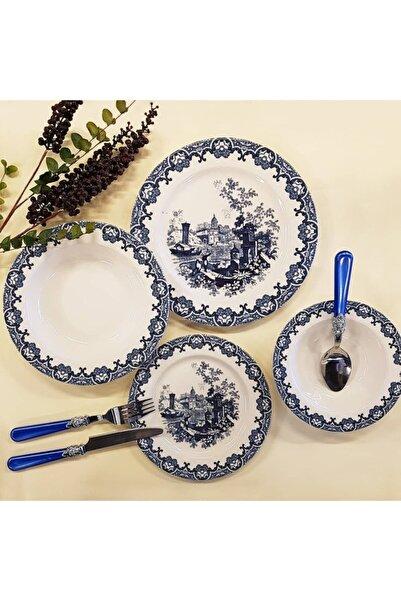 BİEV  Mavi Yemek Takımı 24 Parça