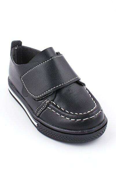 Akıllı Şirin Ortopedik Ilk Adım Erkek Çocuk Mevsimlik Ayakkabı Siyah