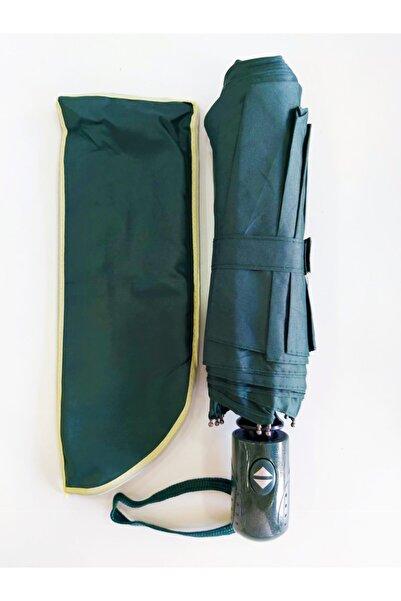 Umbrella Şemsiye Yeşil Tam Otomatik Rüzgarda Kırılmayan