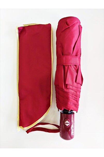 Umbrella Şemsiye Kırmızı Tam Otomatik Rüzgarda Kırılmayan