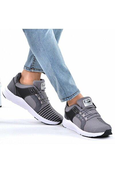 Jump Unisex Gri Siyah Spor Ayakkabı