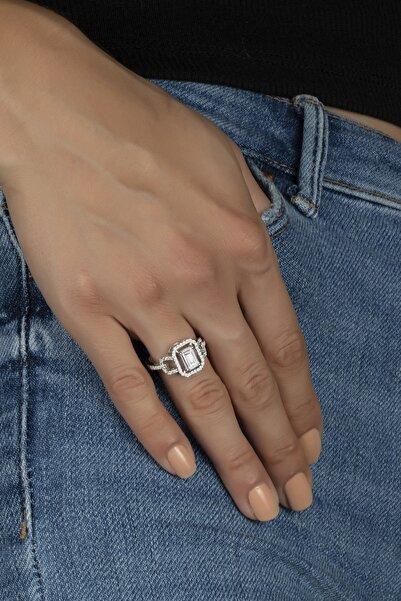 Else Silver Özel Tasarım Baget Taşlı Gümüş Bayan Yüzüğü