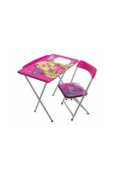 Furkan Kız Çocuk Pembe Ders Çalışma Masa Sandalye Seti