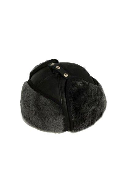 çerçi Kürklü Erkek Şapka Kışlık Siyah Kalpak