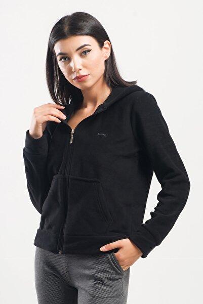 Slazenger Sofal Kadın Sweatshirt Siyah