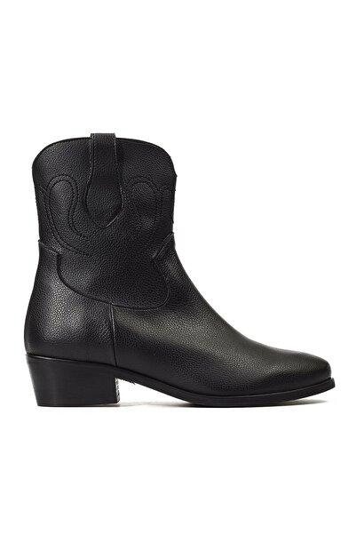 Hotiç Siyah Kadın Western Çizme 01BOH161040A100