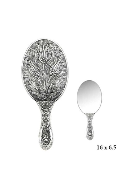 Gumush Lale Motifli El Aynası