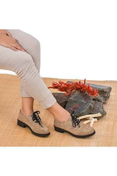 Moosefield Kadın Bej Hakiki Deri Ayakkabı