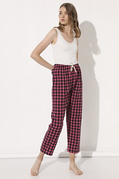 Arma Life Kadın Pembe Dama Kaşmir Pijama Altı