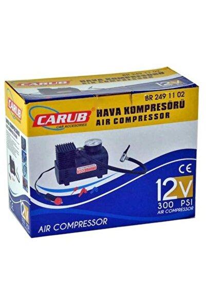 Carub 300 Psi 12v Güçlü Performans Siyah Hava Kompresörü