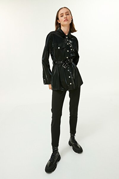 Twist Kadın Siyah Fermuar Kapama Pantolon  TW6200003191