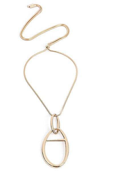 İpekyol Kadın Metalik Metal Uçlu Kolye  IW6200051019