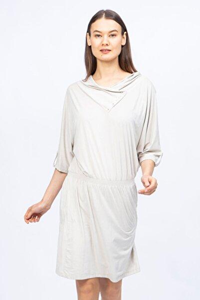 Ted Lapidus Kadın Ekru Düğmeli Yaka Elbise 1n5081