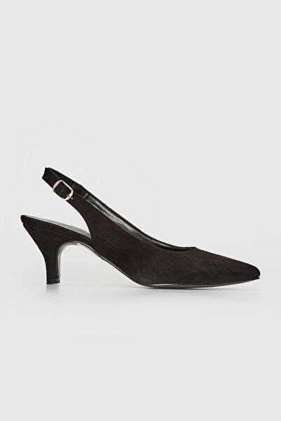 LC Waikiki Kadın Siyah Topuklu Ayakkabı 0SV210Z8