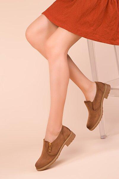 SOHO Taba Süet Kadın Casual Ayakkabı 15472