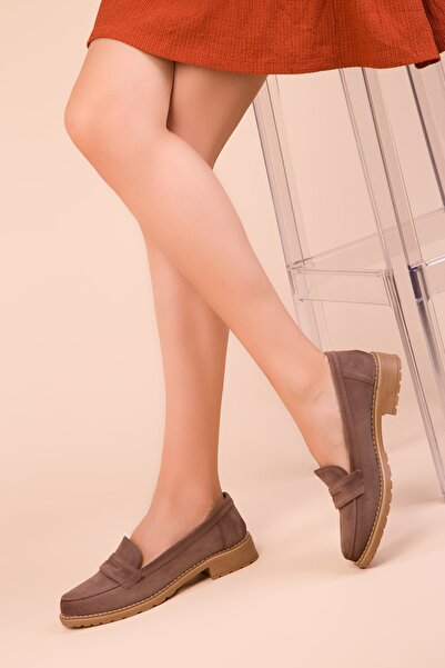 SOHO Vizon Süet Kadın Casual Ayakkabı 15471