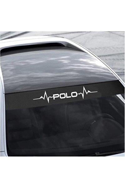 Cix Volkswagen Polo Karbon Ön Cam Oto Sticker