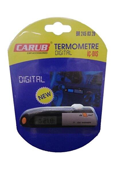 Carub Dijital Araba Iç Dış Ölçüm Aleti Termometre