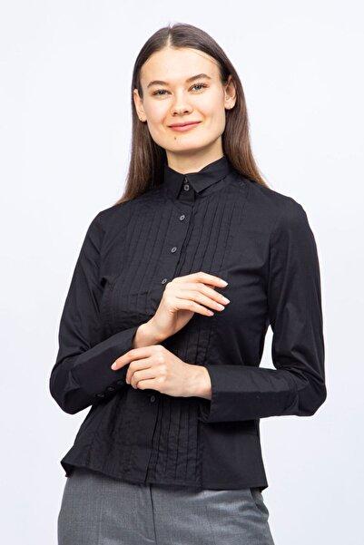 Ted Lapidus Kadın Siyah Desenli Gömlek
