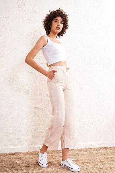 Eka Kadın Lastikli Kemerli Pantolon