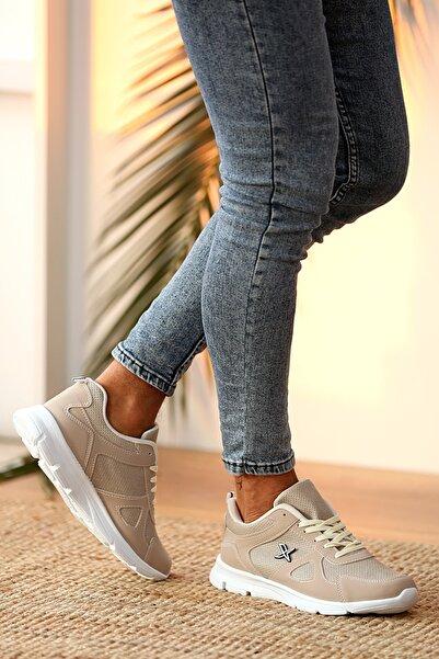 Pembe Potin Kadın Bej Ayakkabı