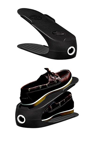 Müzeyyen 12 Adet Gondol Ayakkabı Rampası Ayakkabı Düzenleyici - Siyah
