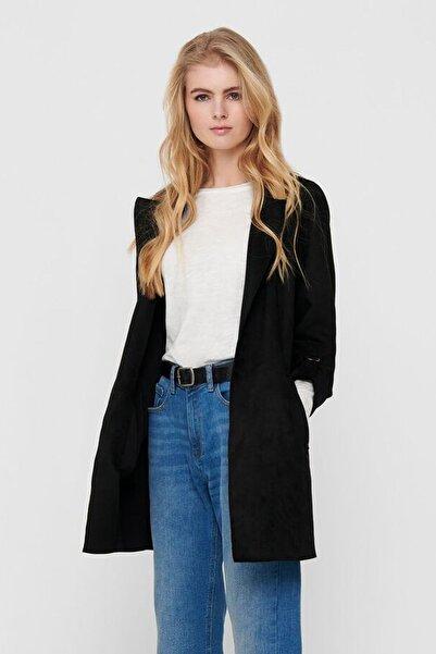 Only Kadın Siyah Uzun Ceket 15179864