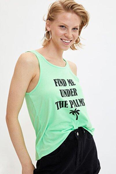Kadın Yeşil Baskılı Atlet L9511AZ.19HS.GN825