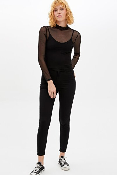 DeFacto Kadın Siyah Anna Super Skinny Pantolon L6353AZ.19AU.BK27