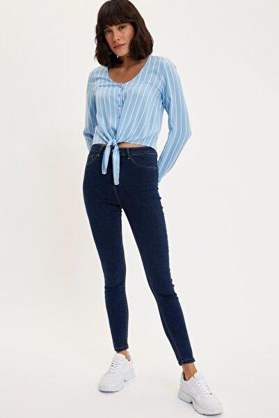 Kadın Mavi Anna Yüksek Bel Super Skinny Jean Pantolon L0595AZ.20SP.NM34