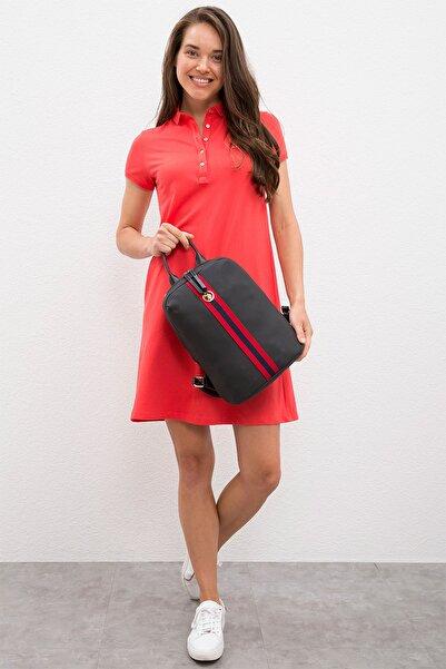 U.S. Polo Assn. Siyah Kadın Sırt Çantası Us8055