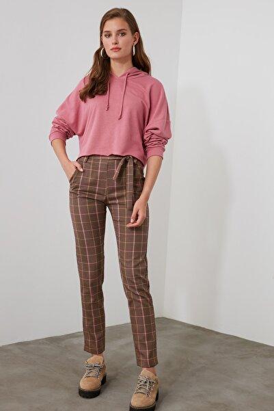 TRENDYOLMİLLA Çok Renkli Bağlamalı Pantolon TWOAW21PL0497