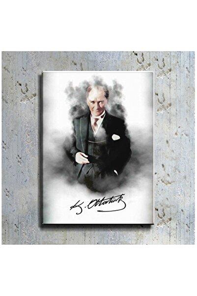mağazacım Atatürk Takım Elbiseli Portre (40x60 Cm) Kanvas Tablo Tbl1196
