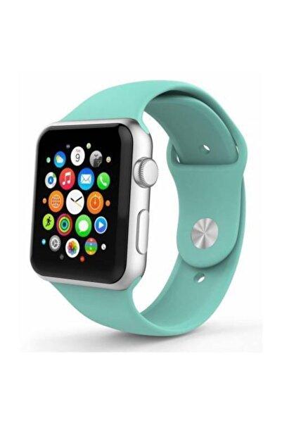 Polhammobile Turkuaz For Apple Watch 42 44 mm Apple Watch Series 5 4 3 2 1 Uyumlu Kordon Kayış