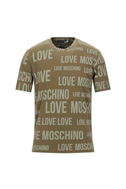 Moschino Erkek Haki Love T-shirt