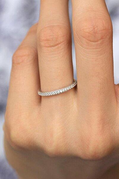 Crystal Diamond Zirconia Işıklı Kutuda Labaratuvar Pırlantası 0.22 Carat Tamtur Yüzük