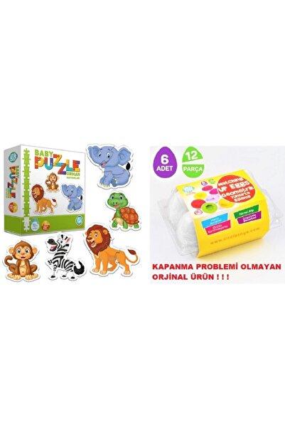 AyasEğiticiOyuncak Circle Toys Baby Puzzle Orman Hayvanları - Geometrik Yumurta Bultak 6 Lı