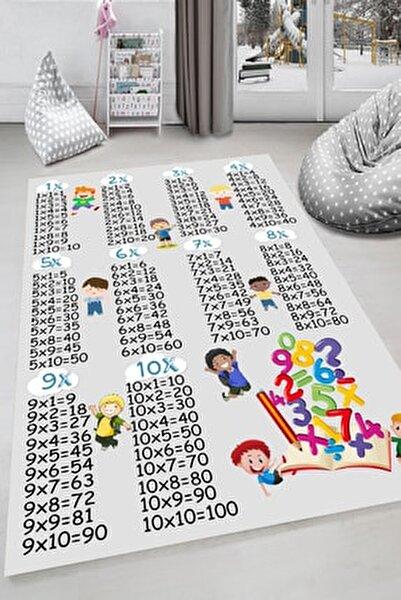 Unisex Beyaz Kaymaz Taban 3 Boyutlu Çocuk Odası Halısı Dot-hp-674