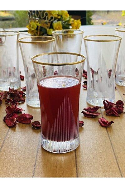 Paşabahçe Azur Eyfel Gold Yaldızlı 6 Kişilik Su ve Meşrubat Bardağı