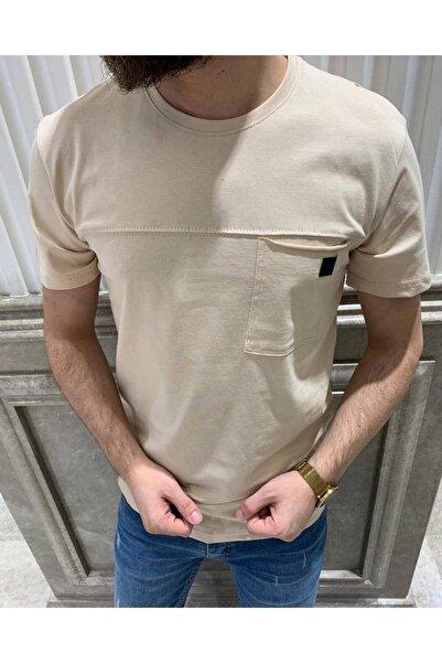 Retro Erkek Krem Tişört
