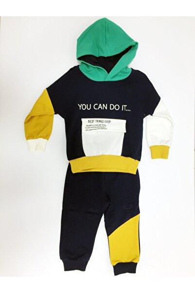 Pankido Erkek Bebek Lacivert Kapüşonlu 2'li Takım