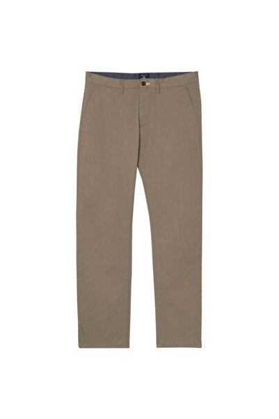 Gant Erkek Gri Regular Fit Keten Pantolon