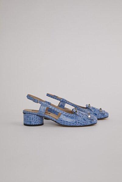 ALINA KOREN Kadın Mavi Lunas Topuklu Ayakkabı