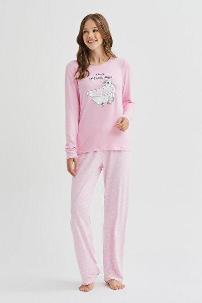 Penti Self Kitten Termal Pijama Takımı