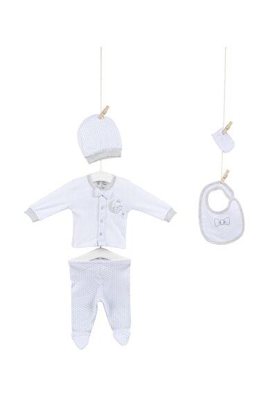 Aziz Bebe Bebek Pamuklu 5'li Hastene Çıkış Seti