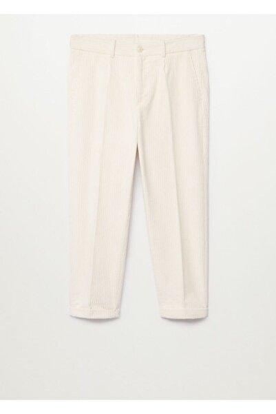 MANGO Man Kadın Ekru Pantolon